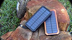 Unbranded Capacity: as you choose - Solar panel: 2W - Input: DC 5V 2.0A - Output1: DC 5.0V 1.0A (Max) - Output2: DC 5.0V 2.1A (Max) - The battery indicator: 4-LED indicate - Compatible with: iPhone, Nokia, Samsung, Sony, xiaomi, etc Package Included:...