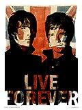 onthewall Oasis Liam und Noel Live Forever Kunstdruck