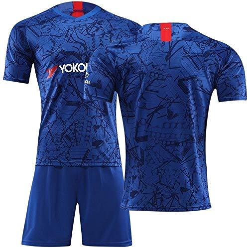 NICEXIONGDEI 19-20イギリスプレミアリーグチェルシーサッカーユニフォーム男子サッカートレーニングユニフォーム#7#9#10 for Chelsea (Color : Blue, Size : L)