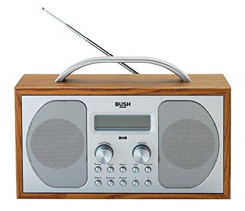 Bush DAB/FM-stereo radio in houten kast