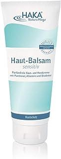 HAKA Hautbalsam sensitiv I 100 ml I Lotion zur Körperpflege, Hautpflege und Gesichtspflege I Parfümfreie Pflegecreme für trockene, strapazierte Haut 200 ml