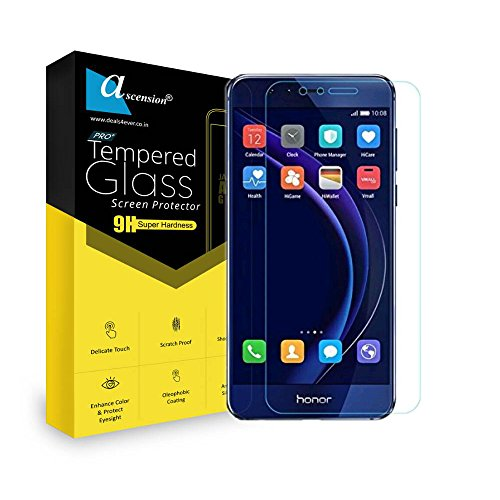 Ascension ® Curve Tempered for Huawei Honor 8 Gorilla Glass Screen Protector High 9H Hard 2.5D Ultra Clear Transparent