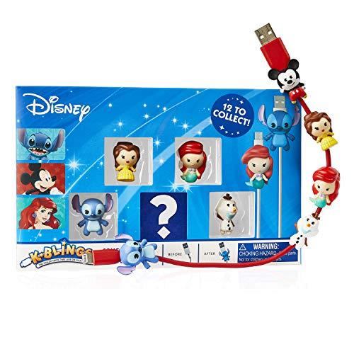 K-BLINGS Disney Protectores de Cable: 12 para coleccionar, Pack de 5 (Wow Stuff DIS-KB-1011)