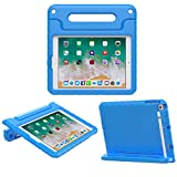 MoKo Funda para iPad 9.7 2018/2017-Portátil Cubierta Ligera Kids Protector Parachoque con Manija y Apple Pencil Soporte para Apple iPad 9.7' 2018/2017/iPad Air/iPad Air 2, Azul