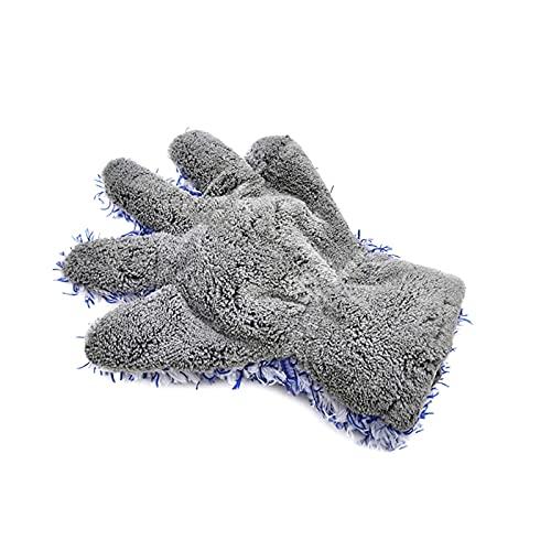 Dubbelzijdige auto reinigingshandschoenen Zachte koraal fleece auto handschoenen waterdichte reinigingsdoek voor auto…