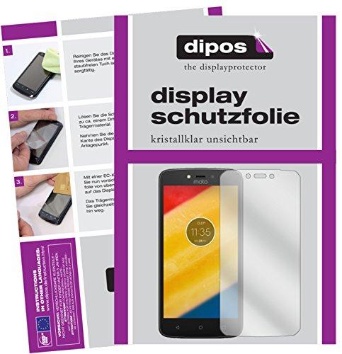 dipos I 2X Schutzfolie klar kompatibel mit Lenovo Moto C Plus Folie Bildschirmschutzfolie