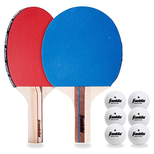 Franklin Sports 4 Player Table Tennis Paddle and Ball Set