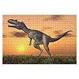 """Jigsaw Puzzle Dinosaur Megalosaurus for Adults Kids Wood Puzzle Game Educational Family Game Toys Gift, Challenge Art Gift - 20""""x30""""(1000 Pieces)"""