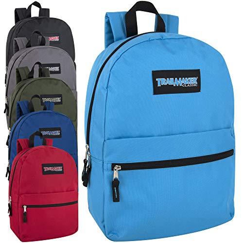 24 Pack- Classic 17 Inch Backpacks in Bulk Wholesale Back Packs...