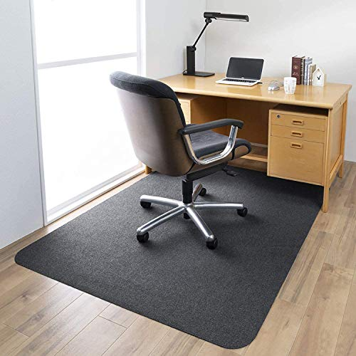 140 cm x 90 cm office chair mat for hard floors and tiled floors, non-slip office chair mat, non-woven surface, rectangular non-toxic floor protection, not for carpet (black)