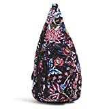 Vera Bradley Women's Signature Cotton Sling Backpack, Foxwood, One Size
