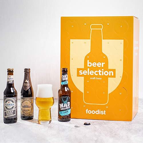 Foodist Premium Craft Beer Adventskalender 2020 - Internationale Biere als Geschenk-Set mit ausgefallenen Biersorten aus der ganzen Welt inkl. Tasting-und Rezeptbuch für Erwachsene (24 x 0.33l) - 5