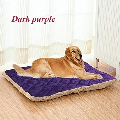String Lights Brown Dog Cat-Bett-Kissen-Fleece 76x60cm Hund/Katze/Welpe/Kitten Bett unter Verwendung Fleece und Wildleder Nap abnehmbar und waschbar (Color : D, Size : 100x80cm)