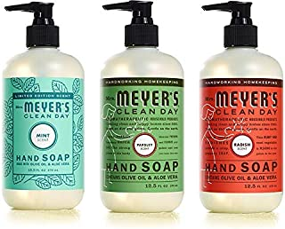 Mrs. Meyer's Clean Day Liquid Hand Soap 3 Scent Variety Pack (Variety Pack - 3)