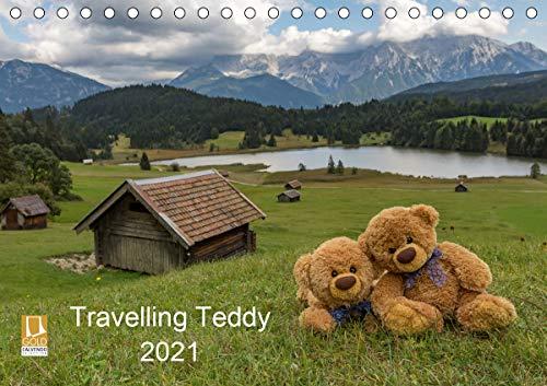 Travelling Teddy 2021 (Tischkalender 2021 DIN A5 quer)