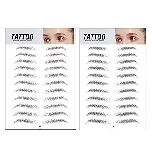 Top Beauty 2Pcs 4D Authentic Eyebrows Like Hair, Natural Tattoo Eyebrow Stickers, Waterproof Long Lasting Brow Shaper Makeup Eyebrow Transfers For Women Men-Set 5