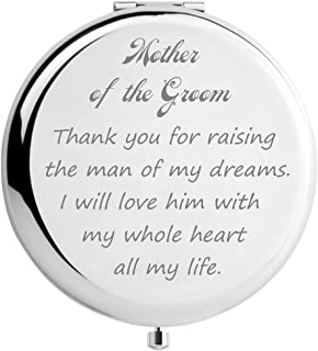 DIDADIC Mother of The Groom Gifts from Bride, Wedding Keepsake Gift, Engraved Gift Present (Silver, Mother of The Groom)