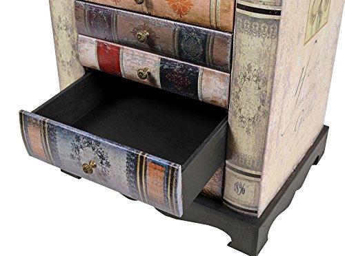 Buch  Nachttisch/Kommode im Vintage Look - 6