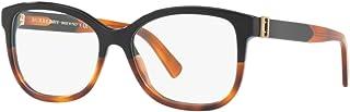 نظارات بيربري BE2252 - 3632 أسود/هافانا مع عدسة تجريبية 52 مم