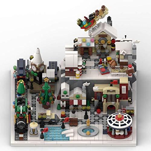 CYGG Arquitectura - Winter Wonderland Village Moc Kit de construcción - 1533 PCS