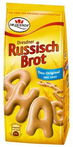 Dr. Quendt Dresdner Russisch Brot, 15er Pack (15 x 100 g Beutel)