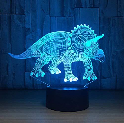 Altavoz Bluetooth Luz De Noche Led Dinosaurio 3D Ilusión Lámpara De Mesa 7 Colores Acylic Usb Sensor Táctil Lampe Para Regalo De Niños