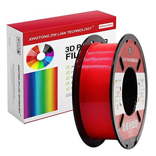 PLA-Filament 1,75 mm,3D-Druck PLA-Filament für 3D-Drucker und 3D-Stift,Maßgenauigkeit +/- 0,02 mm,1 kg 1 Spule (Rot)