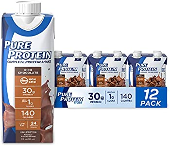 12-Pack Pure High Protein Rich Chocolate Drink Shakes, 11oz