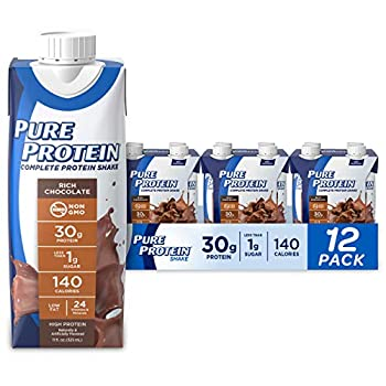 Pure Protein Chocolate Protein Shake | 30g Complete Protein | Ready to Drink and Keto-Friendly | Vitamins A C D and E plus Zinc to Support Immune Health | 11oz Bottles | 12 Pack