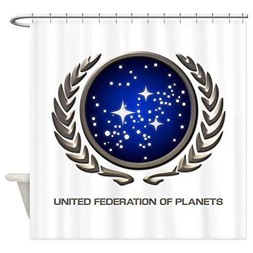 VinMea Star Trek UFP Insignia - Decorative Fabric Shower Curtain (60