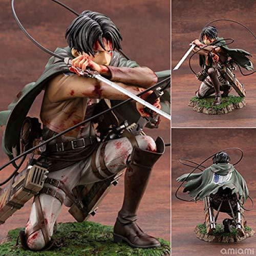 Attack On Titan Capitán Levi Levier Colección Juguete Coleccionables Decoraciones Regalos Favorito De Los Fanáticos del Anime