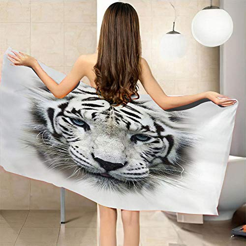 QHDHGR Telo Mare Animali e tigri 3D Stampato Uomo Donna Asciugatura Rapida Telo da Palestra Asciugamani Sportivi per Nuoto Picnic E Bagno 100 x 200 cm