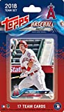 Los Angeles Angels 2018 Topps Factory Sealed EXCLUSIVE Special Limited Edition 17 Card Team Set with Shohei Ohtani Rookie Card Plus Mike Trout and others. rookie card picture