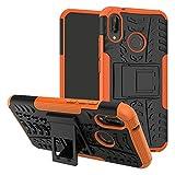 Labanema Huawei P20 Lite Funda, [Heavy Duty] [Doble Capa] [Protección Pesada] Híbrida Resistente Funda Protectora y Robusta para Huawei P20 Lite (con 4 en 1 Regalo empaquetado) - Naranja