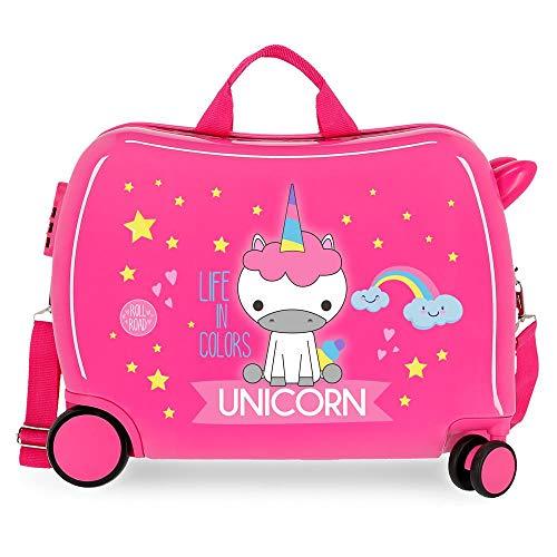 Roll Road Little Me Bambino unicorno 50 x 38 x 20 cm Rosa