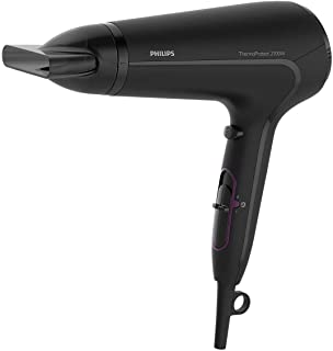 Philips ThermoProtect Hairdryer. 2100W. Cool Shot. Slim styling nozzle. 6 speed and temrpeture settings. 3 pin, Black, HP8...