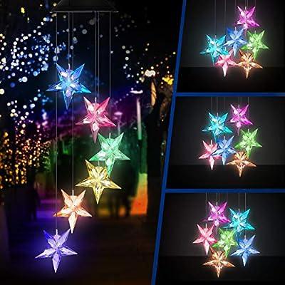 Topspeeder Blue Star LED Wind Chime