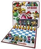 Super Mario Schaakspel | Blikken trommel met 32 Nintendo figuren | Voor kinderen vanaf 7 jaar