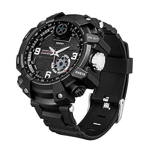 Reloj militar para hombre WIFI Reloj deportivo resistente al agua Pulsera de supervivencia al aire libre Grabación de video con foto HD Detección de movimiento, Para escalada Senderismo (128GB)