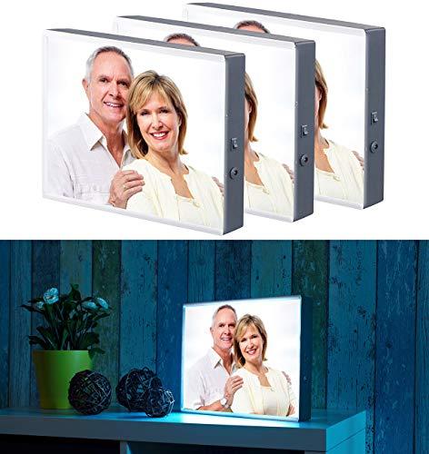 infactory Bilderrahmen beleuchtet: 3er-Set LED-Leuchtkasten für Bilder auf Folie & Papier, DIN A4-Format (Leuchtrahmen)