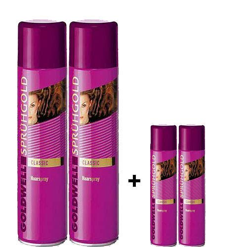 Goldwell Sprühgold Classic unisex, Haarspray Aktion 2x 600ml + 2x 100ml = 1400ml