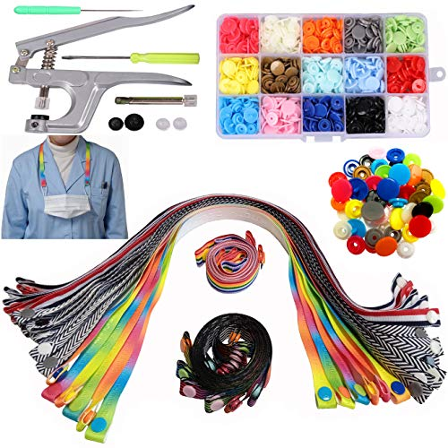 Bulk Lanyards, DIY Face Mask Lanyard Snap Button, Face Mask Holder Necklace for Women lanyards for Masks Lanyard Strap Kids Lanyard for Face Mask Extender Face Mask Neck Strap for Face Mask
