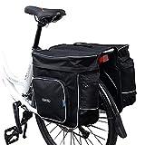 COTEetCI Bike Bag Bicycle Front/Rear Pannier Cycling Rack Pack 30L Bicycle Trunk Bag-Black ¡