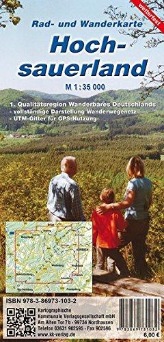 Hochsauerland: Reiß- und Wetterfeste Rad- und Wanderkarte