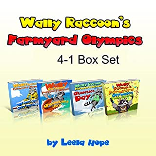 Books for Childrens: Wally Raccoon's 4-Book Collection audiobook cover art