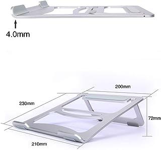 CLEAVE WAVES Laptop Stand Portable Adjustable Foldable Aluminum Stand Holder Cooling Stand,Ergonomic Holder,Silver