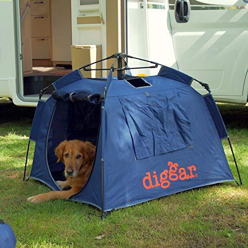 Diggar DIGGARBOX eine Mobile Hundebox Hundezelt Outdoor Zelt 100x100x70cm Hundematte Hundebett Strand