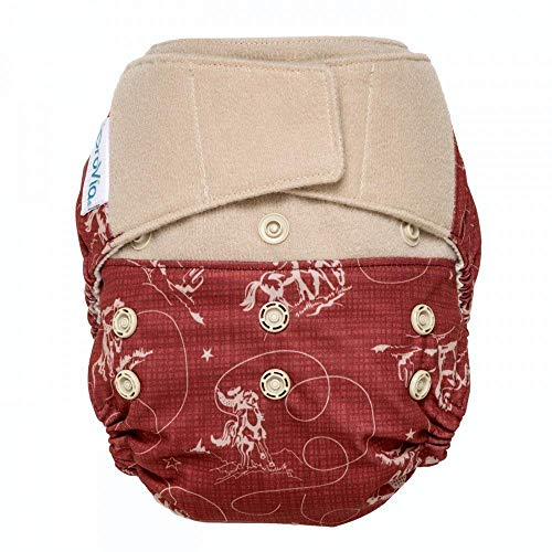 GroVia Reusable Hybrid Baby Cloth Diaper Hook & Loop Shell (Tex)