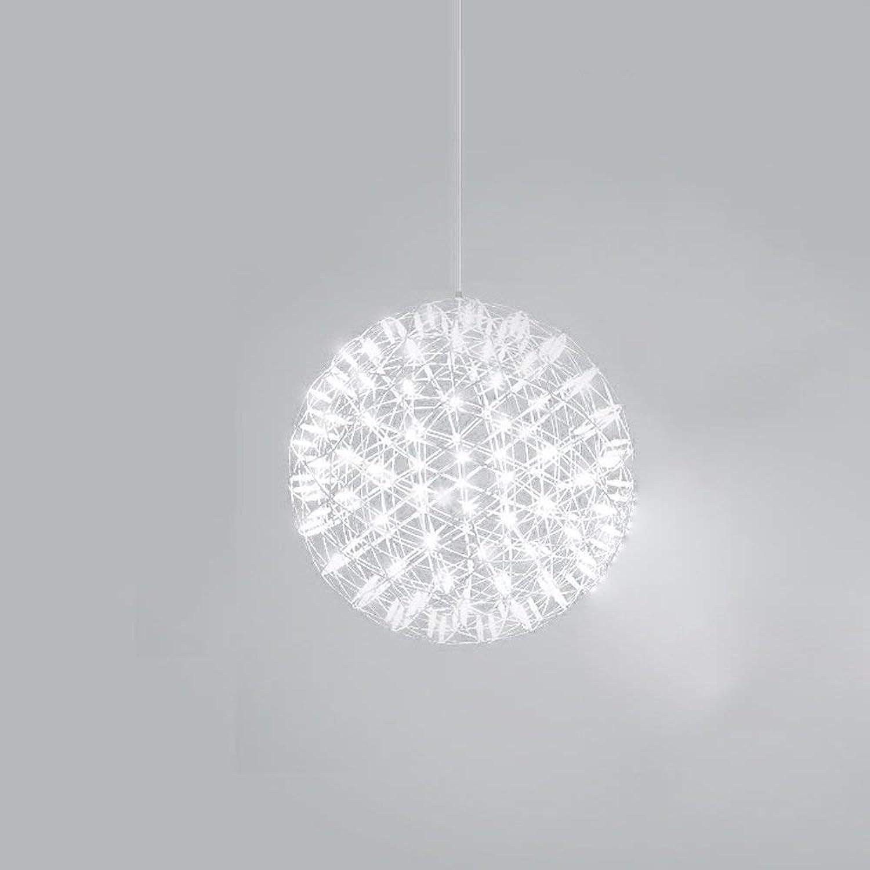 Kylinddt Moderne kreative runde Leuchter-Wohnzimmer-Schlafzimmer-Café-Buchhandlungs-Loft-einfaches Restaurant-Leuchter (gre   30cm)