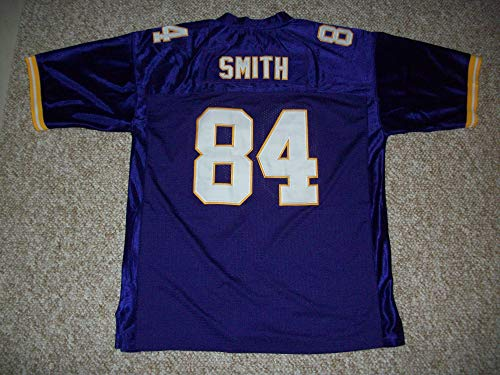 Unsigned IRV Smith Jr. #84 Minnesota Custom Stitched Purple Football Jersey Various Sizes New No Brands/Logos (S)